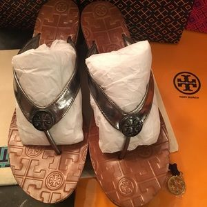 Tory Burch cork wedge sandal/size 6.5